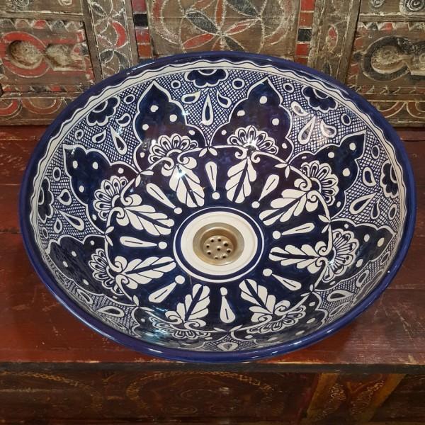 Lavandino in Ceramica Dipinta a Mano Marocco   LR40-31