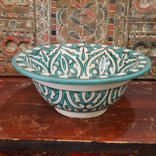 Lavandino in Ceramica Dipinta a Mano Marocco   LR35-9