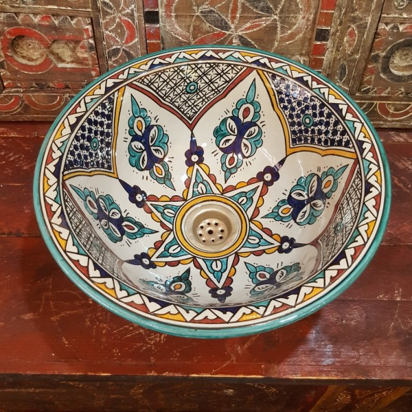 Lavandino in Ceramica Dipinta a Mano Marocco | LR35-10