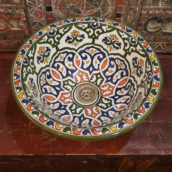 Lavandino in Ceramica Dipinta a Mano Marocco | LR35-11