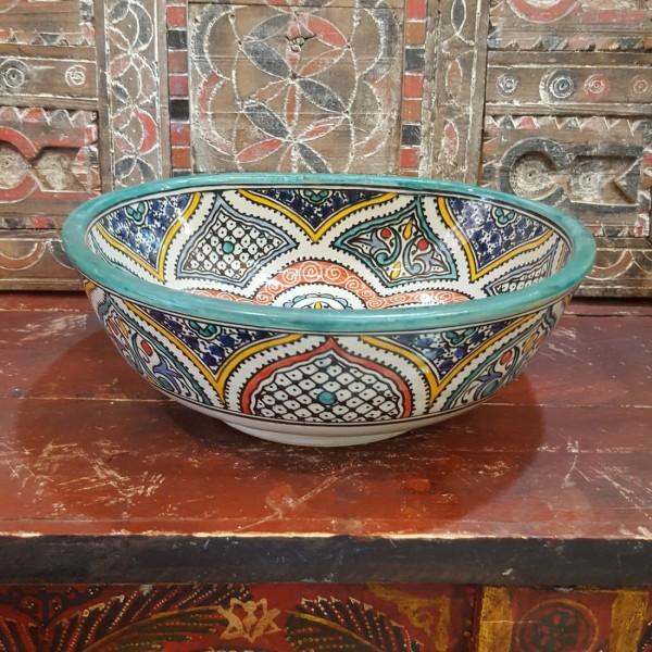 Lavandino in Ceramica Dipinta a Mano Marocco | LT35-7