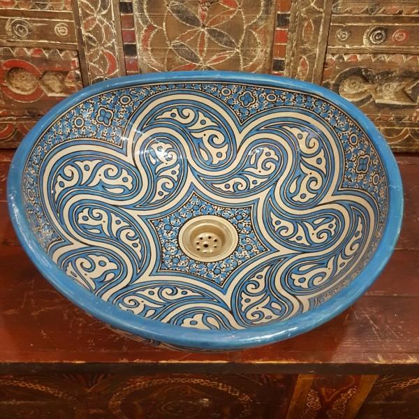Lavandino in Ceramica Dipinta a Mano Marocco   LT45-2