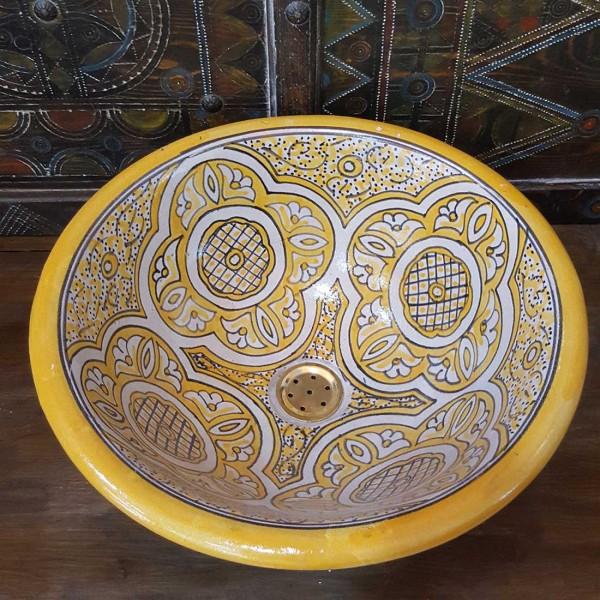 Lavandino in Ceramica Dipinta a Mano Marocco   LR40-18