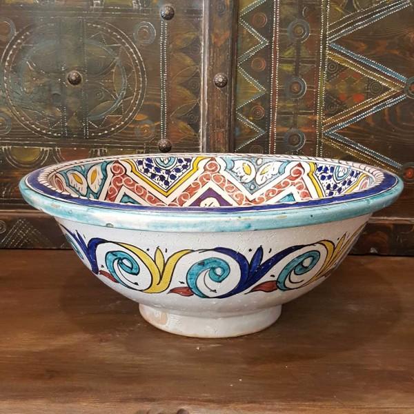 Lavandino in Ceramica Dipinta a Mano Marocco   LR40-21