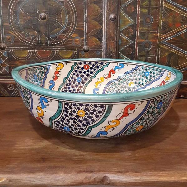 Lavandino in Ceramica Dipinta a Mano Marocco | LT40-1