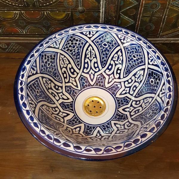 Lavandino in Ceramica Dipinta a Mano Marocco   LR35-4