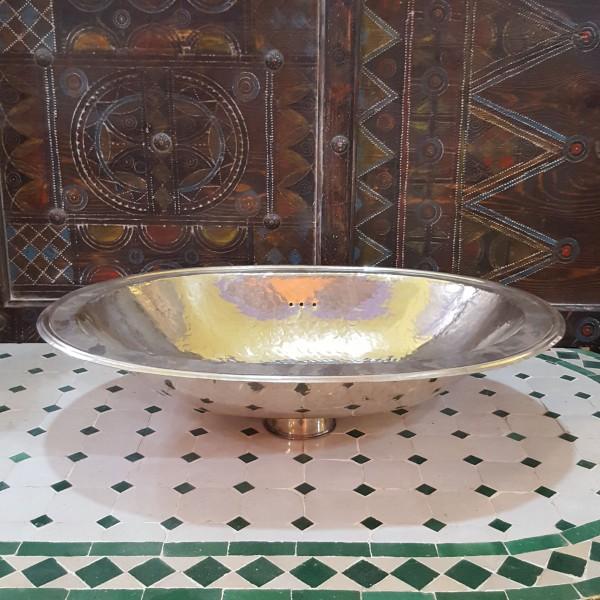 Lavandino in Metallo Bianco Marocco | LMB-2
