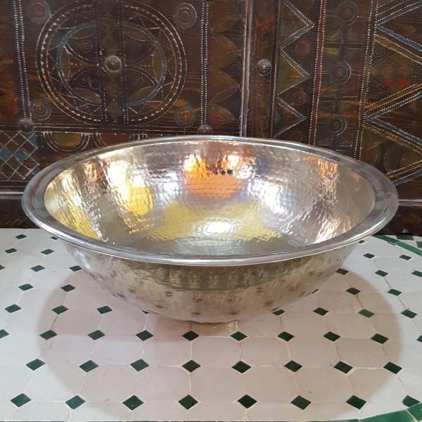 Lavandino in Metallo Bianco Marocco | LMB-3