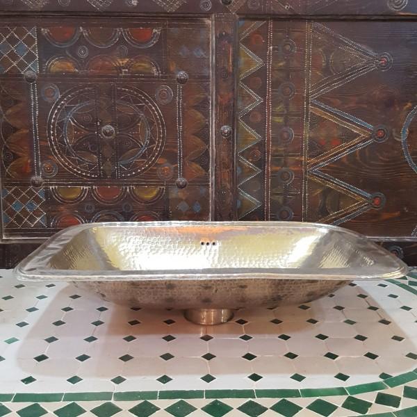 Lavandino in Metallo Bianco Marocco | LMB-4