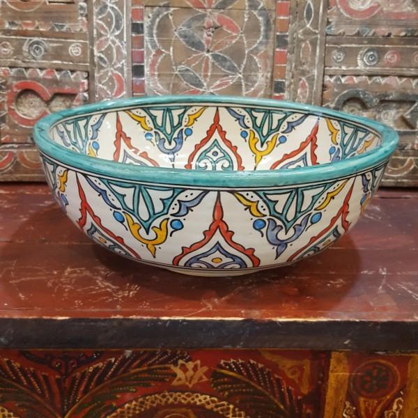 Lavandino in Ceramica Dipinta a Mano Marocco   LT40-2
