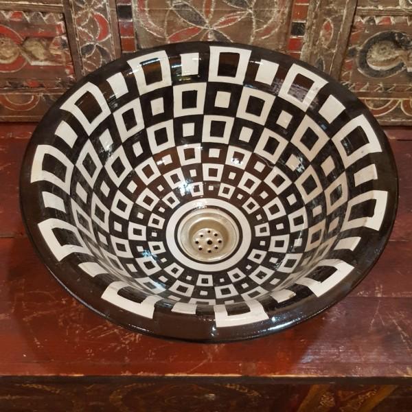 Lavandino in Ceramica Dipinta a Mano Marocco   LR35-3