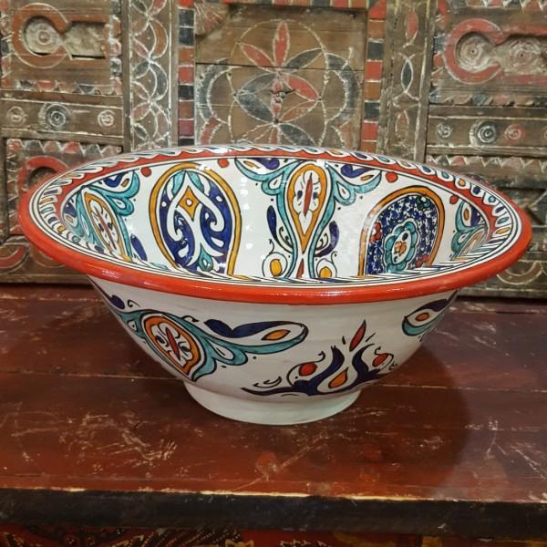 Lavandino in Ceramica Dipinta a Mano Marocco   LR40-27
