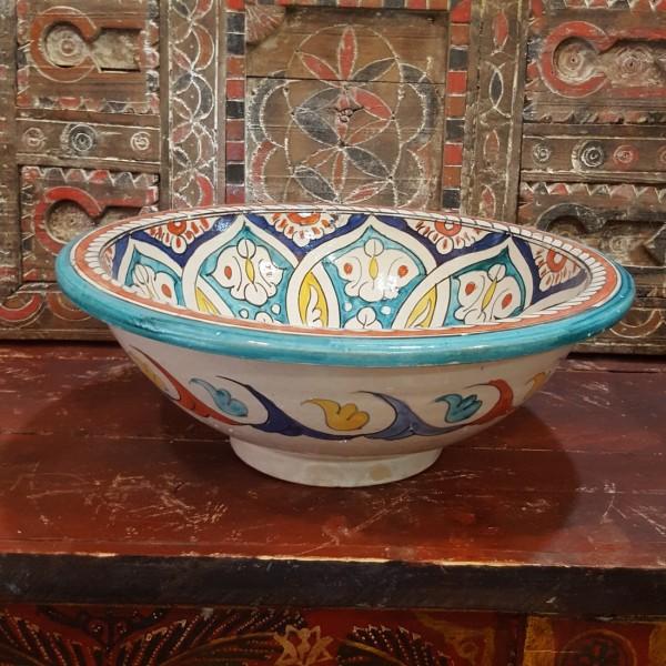Lavandino in Ceramica Dipinta a Mano Marocco   LR40-24
